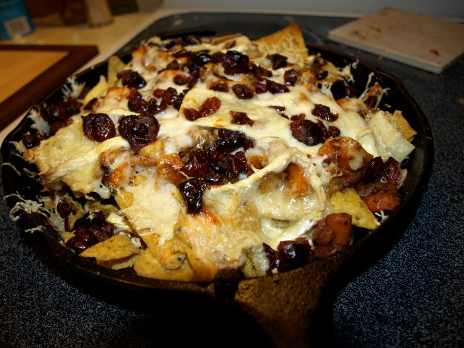 holiday brie nachos