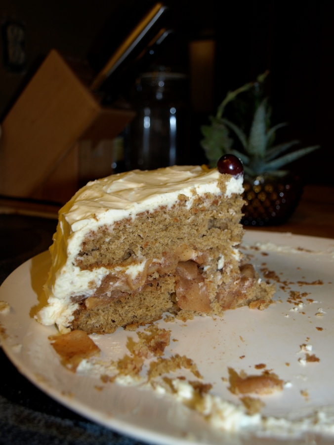 apple spice cake eaten